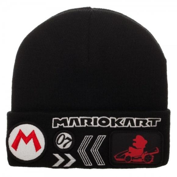 7acd05aef1a63 Nintendo MarioKart Black Beanie Hat Super Mario